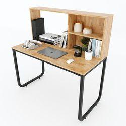 Bàn làm việc Fhome kết hợp kệ gỗ trên bàn HDFD033