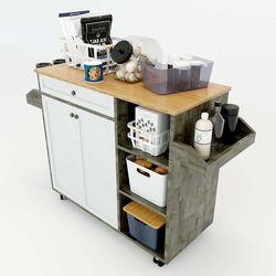 Kệ bếp di động KONA2 mặt gỗ tre (120x40x80cm) KB68014Kệ bếp di động KONA2 mặt gỗ tre (120x40x80cm) KB68014