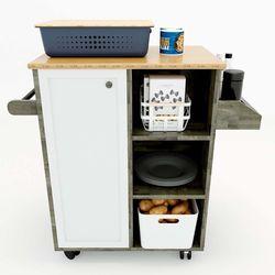 Kệ bếp di động KONA5 mặt gỗ tre (60x40x80cm) KB68020