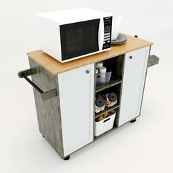 Kệ bếp di động KONA4 mặt gỗ tre (90x40x80cm) KB68019