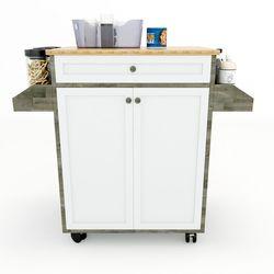 Kệ bếp di động đa năng KONA mặt gỗ tre (90x40x80cm) KB68012