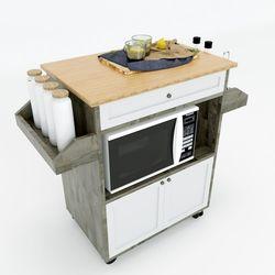 Kệ bếp di động đa năng KISPLA mặt gỗ tre (90x40x80cm) KB68011