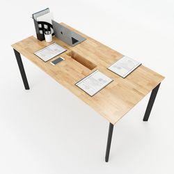 Bàn họp 160x80cm gỗ cao su hệ Oval Concept lắp ráp HBOV009