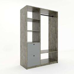 Kệ quần áo gỗ cao su có hộc kéo phong cách tối giản ( 120x50x180cm)