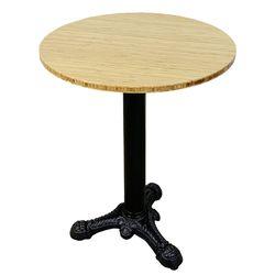 Bàn cafe gỗ TRE ÉP tròn 60cm chân gang đúc 3 chĩa HDCF68034