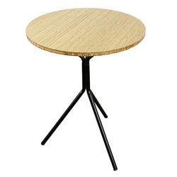 Bàn cafe gỗ TRE tròn 60cm chân chãng 3 HDCF68036