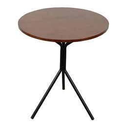 Bàn cafe tròn 60cm gỗ CAO Su chân sắt chãng 3 nhiều màu HDCF046