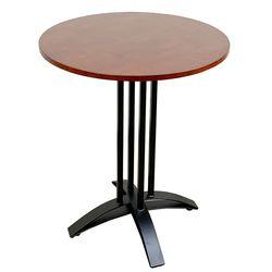 Bàn cafe tròn 60cm gỗ CAO SU chân sắt chữ thập cong HDCF040