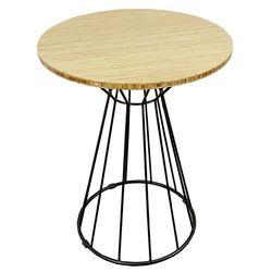 Bàn cafe gỗ TRE ÉP tròn 60cm chân sắt cổ lỏ Nhỏ HDCF68033