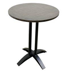 Bàn cafe tròn 60cm gỗ TRE ÉP chân sắt đế chữ thập cong HDCF68039
