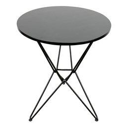 Bàn cafe tròn 60cm Gỗ cao su chân sắt kiểu Hairpin nhiều màu HDCF041
