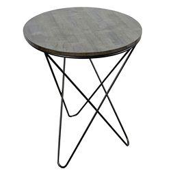 Bàn cafe tròn 60cm gỗ CAO SU chân sắt V xéo nhiều màu HDCF042