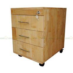 Tủ hồ sơ cá nhân gỗ tự nhiên có 3 ngăn kéo 50x40x50cm HDTCN001