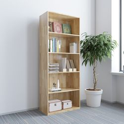 Kệ hồ sơ cao gỗ cao su 5 tầng 80x40x220cm HDTHS009