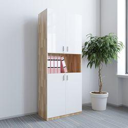 Tủ hồ sơ cao gỗ cao su 5 tầng 2 cửa 80x40x220cm HDTHS011