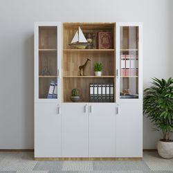 Tủ hồ sơ 3 cụm 160x40x220cm gỗ cao su HDTHS019