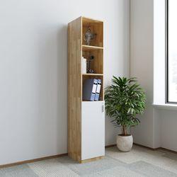 Tủ hồ sơ 40x40x220cm gỗ cao su 1 cửa dưới HDTHS020
