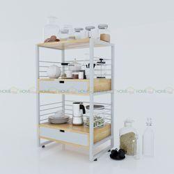 Kệ để đồ trong nhà bếp Ferro 3 tầng 63x42x102(cm) HDKB007