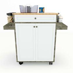 Kệ bếp di động đa năng KONA mặt gỗ tre 90x40x80cm HDKB012