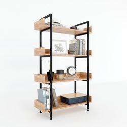 Kệ VERNON 4 tầng gỗ kết hợp khung sắt 80x32x128 (cm) HDKS070