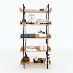 Kệ VERNON 5 tầng gỗ kết hợp khung sắt 80x32x162 (cm) HDKS071