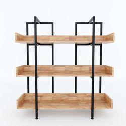 Kệ CARINA 3 tầng gỗ kết hợp khung sắt 100x32x90(cm) HDKS086