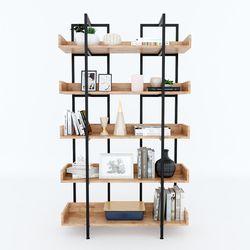 Kệ CARINA 5 tầng gỗ kết hợp khung sắt 100x32x160(cm) HDKS088