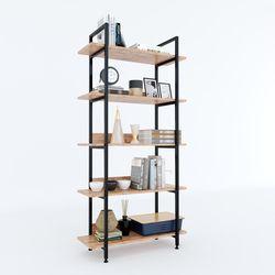 Kệ VASEN 5 tầng gỗ kết hợp khung sắt 80x32x161(cm) HDKS083