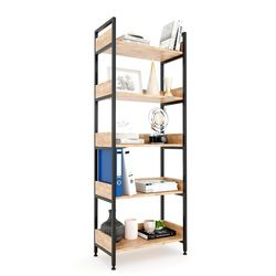 Kệ VEGA 5 tầng gỗ kết hợp khung sắt 60x32x161(cm) HDKS077