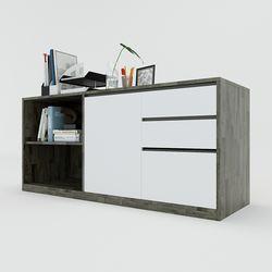Tủ hồ sơ 160x45x63cm gỗ cao su 3 ngăn HDTHS017