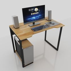 Bàn máy tính đơn giản kết hợp kệ để CPU tiện lợi - 100x60x75 (cm) HDCOD68029