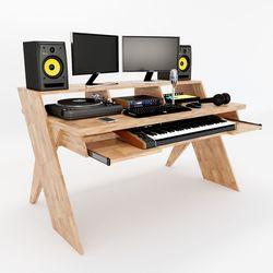 Bàn phòng thu StudioDesk gỗ cao su chân X ( 156x90x91cm)HDSD68006