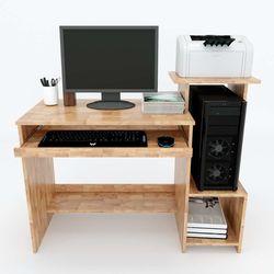 Bàn vi tính kết hợp kệ để máy in gỗ cao su COD68048