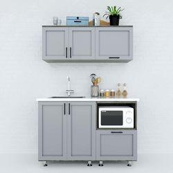 Hệ tủ bếp mini 1m2 gỗ cao su chống ẩm HDBTB68011