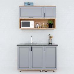 Hệ tủ bếp mini gỗ cao su 1m2 nhỏ gọn hiện đại HDBTB68012