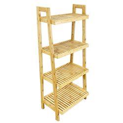 Kệ phòng tắm gỗ tre 4 tầng 54x34x120(cm) HDBS009