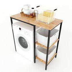 Kệ máy giặt gỗ cao su khung sắt KMG68005