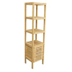 Kệ gỗ tre ép 5 tầng BSHELF có tủ (34x33x145cm) HDBS005