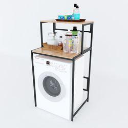Kệ máy giặt 2 tầng gỗ Cao Su khung sắt tĩnh điện HDKMG68003