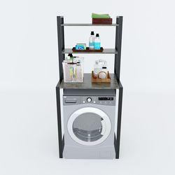 Kệ máy giặt 3 tầng gỗ Cao Su khung sắt HDKMG68002Kệ máy giặt 3 tầng gỗ Cao Su khung sắt HDKMG68002