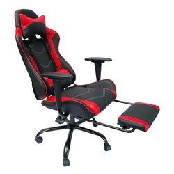 Ghế chơi game 7188 ngả lưng có gác chân đen đỏ HDGC0013