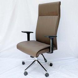 Ghế văn phòng chân xoay nệm simili màu nâu MF6635N