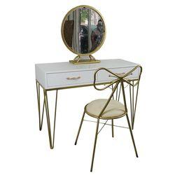 Bộ bàn trang điểm PRICESS 3 món màu vàng đồng BTD68024