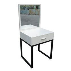 Bàn trang điểm Mini gỗ cao su kèm gương chân sắt BTD68023