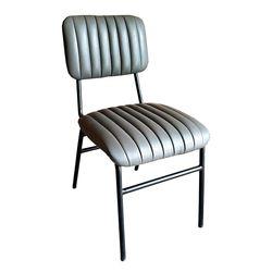 Ghế cafe, ghế ăn chân sắt nệm Xám GCF065