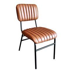 Ghế cafe, ghế ăn chân sắt nệm màu Nâu GCF064