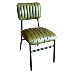 Ghế cafe, ghế ăn chân sắt nệm xanh rêu GCF065