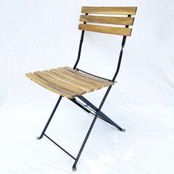 Ghế cafe ngoài trời Shefield gấp gọn gỗ tràm GCF087