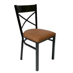 Ghế cafe, ghế bàn ăn khung sắt có nệm GSK003