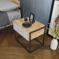 Tủ đầu giường 1 ngăn kéo bằng gỗ Ferro - 50x40x50 (cm) HDTDG68003